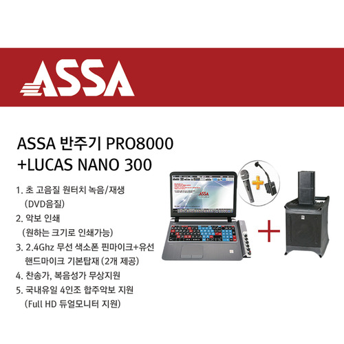 ASSA PRO8000 색소폰반주기 HK AUDIO Lucas Nano300