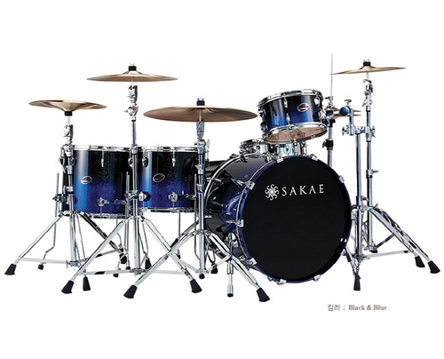 사케드럼  Sakae Almighty Drum Shell Pack Black&Blue