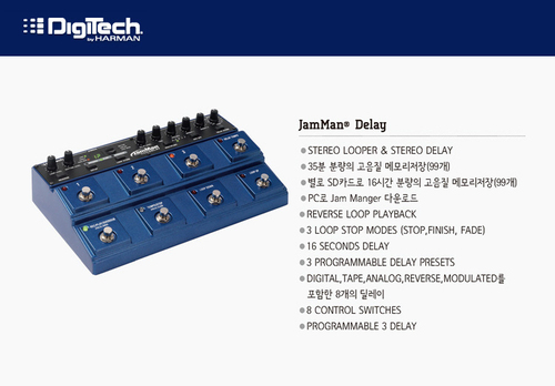 이펙터 디지텍  Digitech JamMan Delay